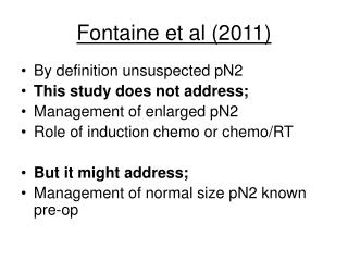 Fontaine et al (2011)