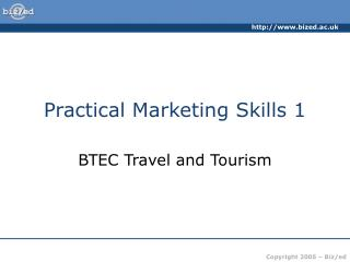 Practical Marketing Skills 1
