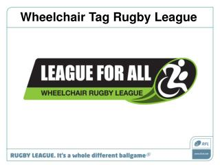 Wheelchair Tag Rugby League