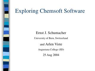 Exploring Chemsoft Software