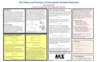The Generalized IV Estimator