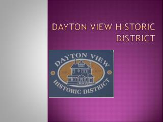 Dayton View Historic District