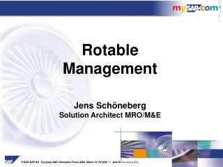 Jens Schöneberg Solution Architect MRO/M&E