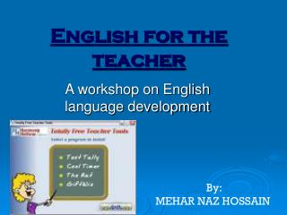 English for the teacher