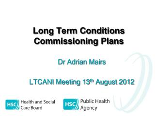 Long Term Conditions Commissioning Plans