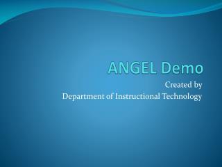 ANGEL Demo