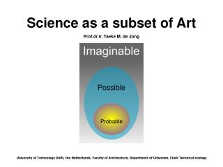 Science as a subset of Art