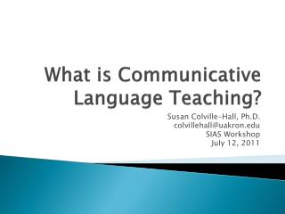 What is Communicative Language Teaching?