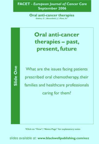 FACET -  European Journal of Cancer Care September 2006