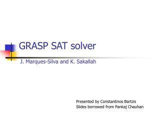 GRASP SAT solver