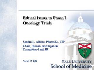 Ethical Issues in Phase I Oncology Trials