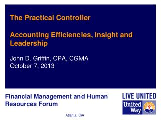 The Practical Controller Accounting Efficiencies, Insight and Leadership