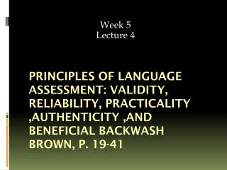 Week 5 Lecture 4