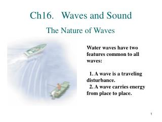 Ch16.   Waves and Sound