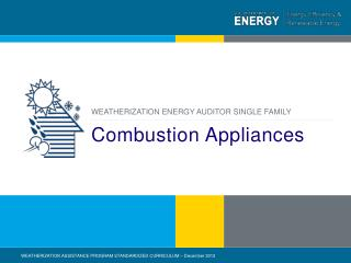 Combustion Appliances
