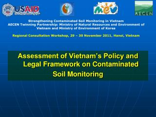 Assessment of Vietnam's Policy and Legal Framework on Contaminated  Soil Monitoring