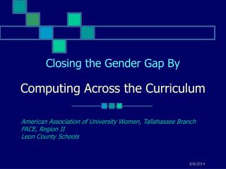 Closing the Gender Gap By Computing Across the Curriculum