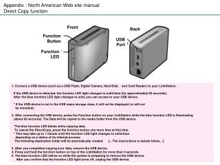 Appendix : North American Web site manual Direct Copy function