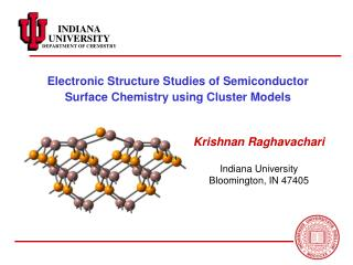 Electronic Structure Studies of Semiconductor Surface Chemistry using Cluster Models