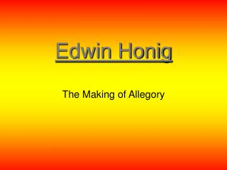 Edwin Honig