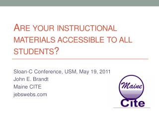 Are your instructional materials accessible to all students?