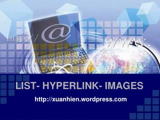 LIST- HYPERLINK- IMAGES