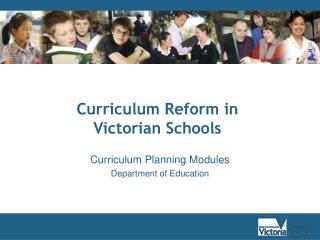 Curriculum Planning Modules Department of Education