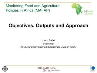 Monitoring Food and Agricultural Policies in Africa (MAFAP)