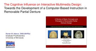 The Cognitive Influence on Interactive Multimedia Design: