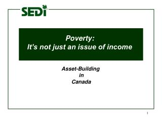 Poverty:  It's not just an issue of income