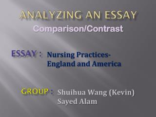 Analyzing an essay