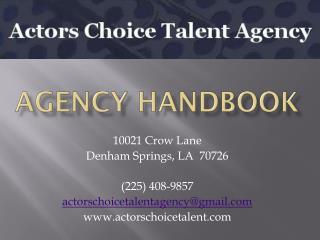 Agency Handbook