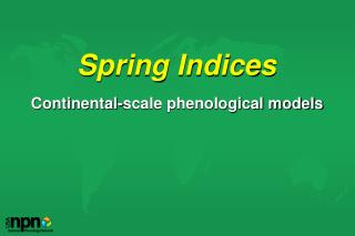 Spring Indices