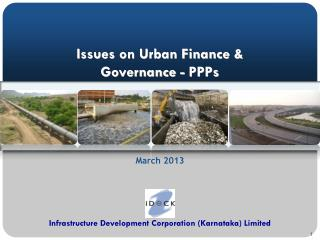 Issues on Urban Finance & Governance - PPPs