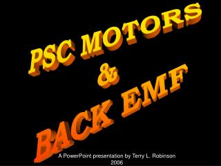 PSC MOTORS & BACK EMF