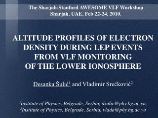 ALTITUDE PROFILES OF ELECTRON DENSITY DURING LEP EVENTS  FROM VLF MONITORING