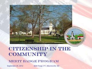 Citizenship in the Community MERIT BADGE PROGRAM