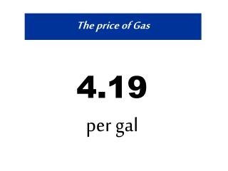 The price of Gas
