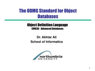 The ODMG Standard for Object Databases