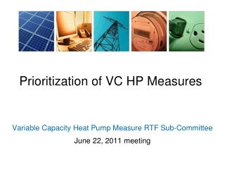 Prioritization of VC HP Measures