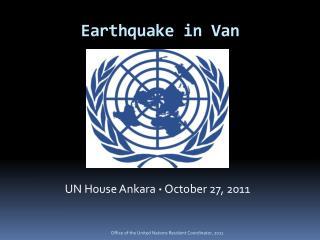 Earthquake  in Van