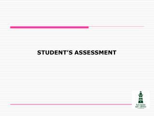 STUDENT'S ASSESSMENT