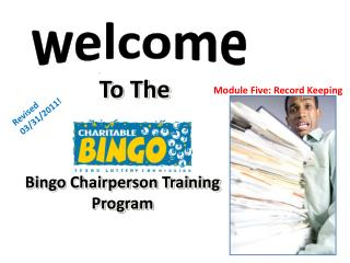 Bingo Chairperson Training Program