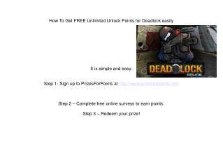 How To Get FREE Unlimited Unlock Points for Deadlock easily