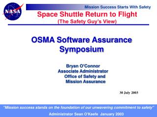 OSMA Software Assurance Symposium