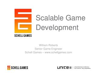 William Roberts Senior Game Engineer Schell Games – schellgames