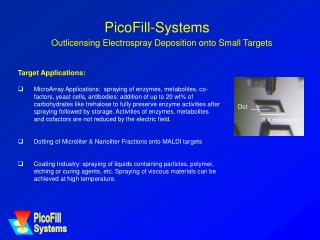 PicoFill-Systems Outlicensing Electrospray Deposition onto Small Targets