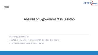Analysis of E-government in Lesotho