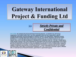 Gateway International Project & Funding Ltd