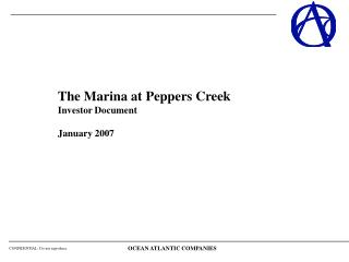 The Marina at Peppers Creek Investor Document January 2007